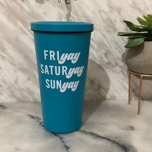 Indigo Friyay weekend blue tumbler stainless steel